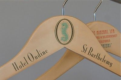 DIY Faux Vintage Hangers!! Way toooo easy to make these... would make a lovely shower gift also!! I'll use this technique for all kinds of stuff!!