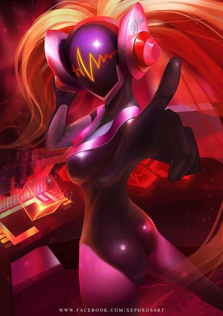 League of Legends: DJ Sona Concussive by XephrosART.deviantart.com on @DeviantArt