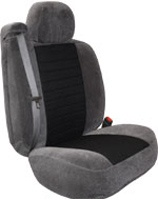 Two-Tone Velour Custom Fit Seat Covers