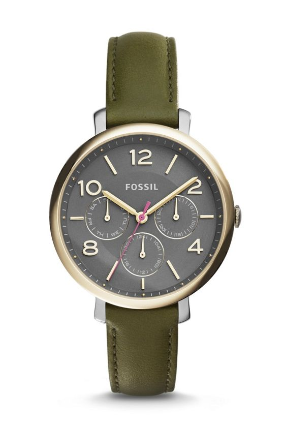 #Fossil Jacqueline Multifunction Leather Watch