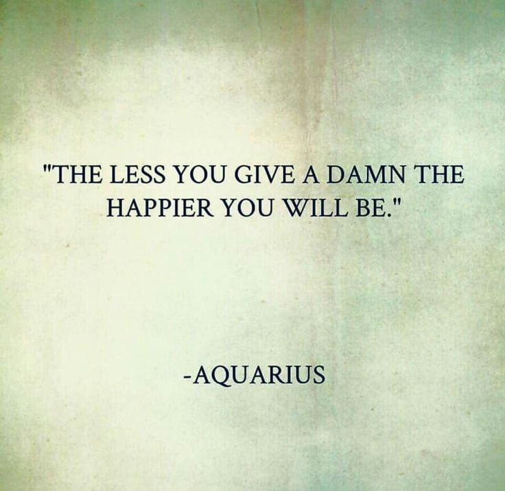For Aquarius