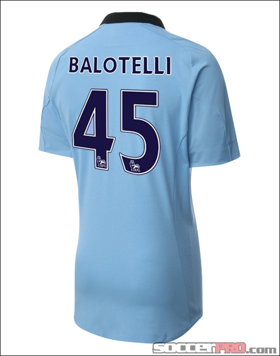 Umbro Manchester City Balotelli Home Jersey 2012-2013...$99.99