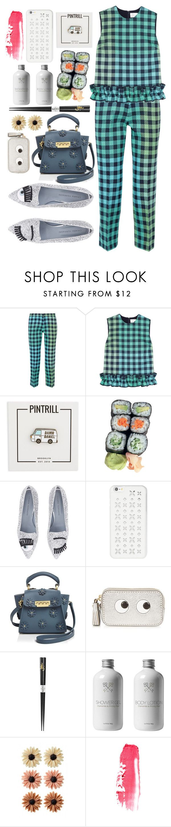 """Sin título #1098"" by meelstyle ❤ liked on Polyvore featuring Victoria, Victoria Beckham, PINTRILL, Chiara Ferragni, MICHAEL Michael Kors, ZAC Zac Posen, Anya Hindmarch, Kotobuki and mae"