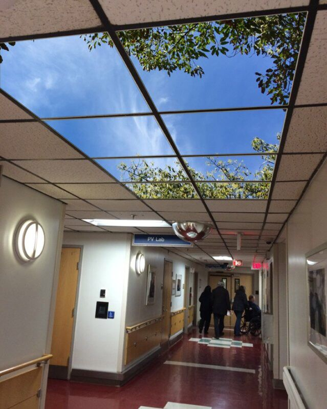 Led Skylight In Hallway Helps Afternoon And Midnight Shift