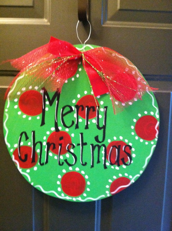 christmas door decorations by on etsy