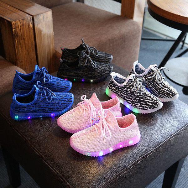 Kinder LED SchuheTurnschuhe Leuchtschuhe Licht Sneaker Sportschuhe Laufschuhe
