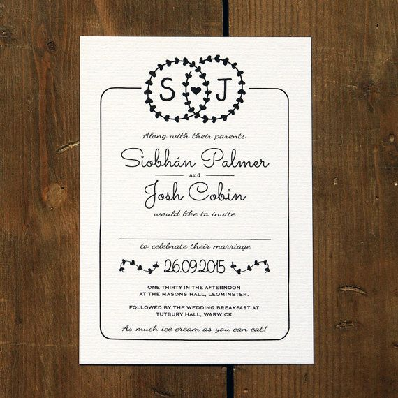Heart Illustration Wedding Invitation Suite & by FeelGoodInvites