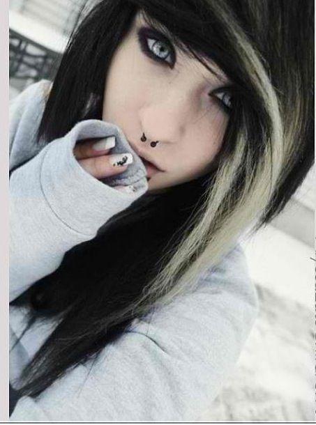 Blonde emo black bra #6