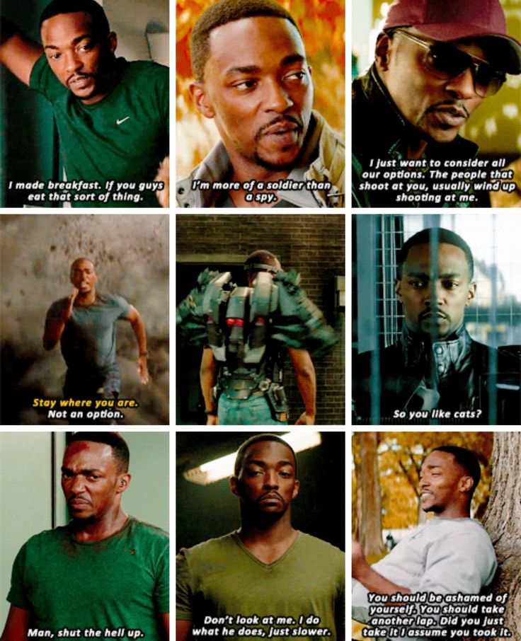 Anthony Mackie as Sam Wilson || I would actually marry this man without hesitation. Perfect character.