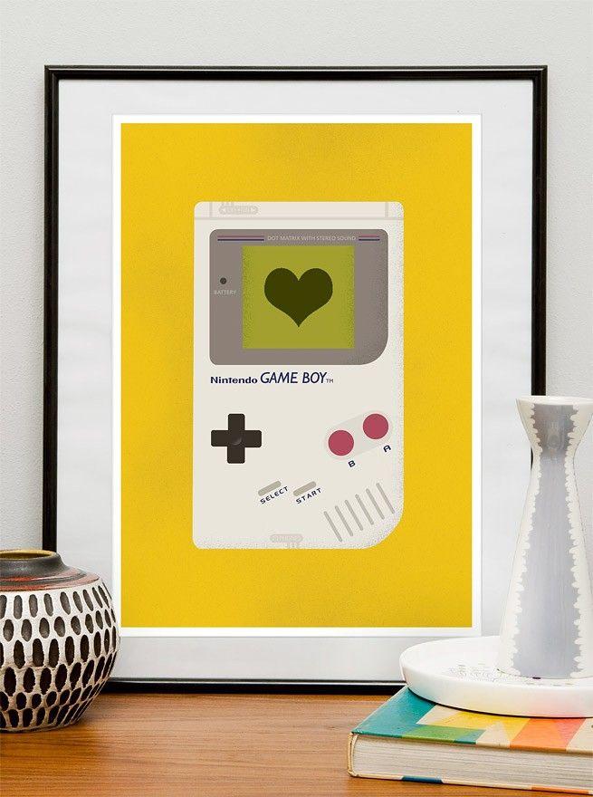game boy print: Prints Posters, Picture-Black Posters, Videos Games, Games Boys, Retro Art, Art Prints, Nintendo Art, Nurseries Art, Video Games