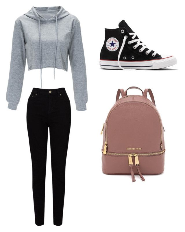 """Untitled #12"" by justis101 ❤ liked on Polyvore featuring EAST and Converse"