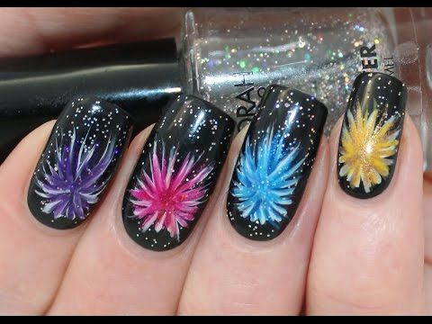Firework Nail Art Tutorial - YouTube