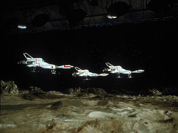 Interceptors from moonbase in TV series UFO (PInterest)