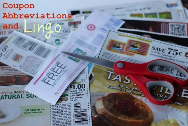 Coupon Abbreviations and Lingo #Coupons