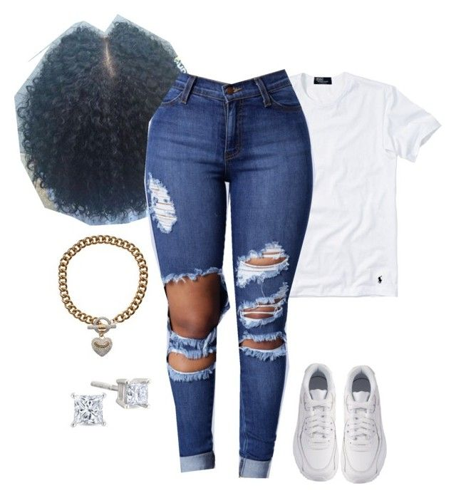 """Air Maxes"" by kvgxo ❤ liked on Polyvore featuring Polo Ralph Lauren, NIKE and Juicy Couture"
