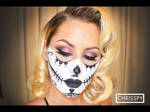 Halloween Look: *Makeup Portion Sugar Skull Tutorial