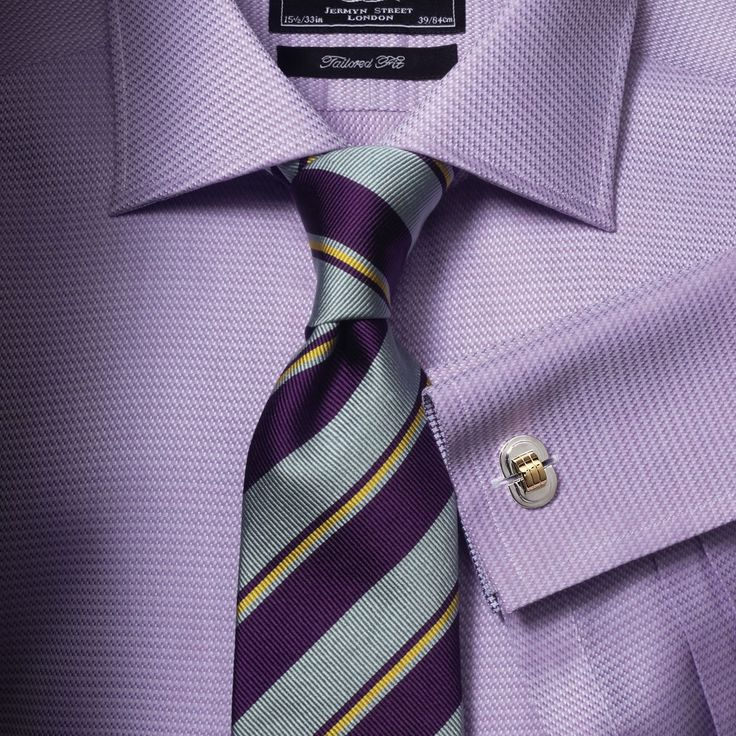 Worcester lilac texture black label extra slim fit shirt for Mens dress shirts charles tyrwhitt