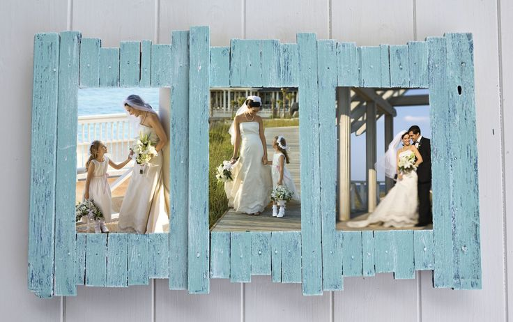 Ocean decor, beach style frames. Beach, cottage, nautical & rustic style decor. Great gift for beach wedding, anniversary, vacation, weekend trip, baby shower.