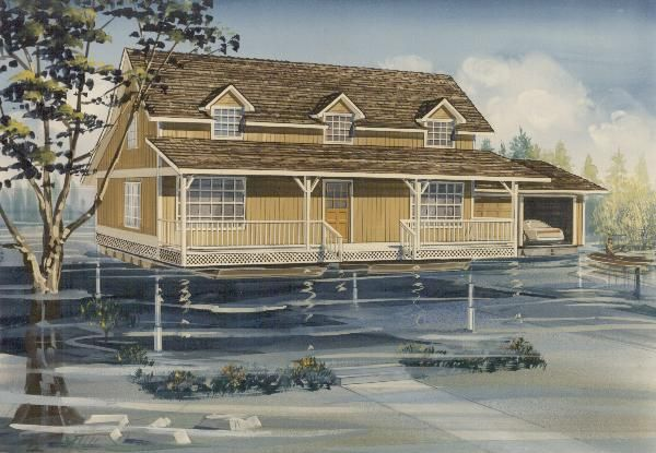 5 amphibious houses built to survive the coming floods for How to build a floating house