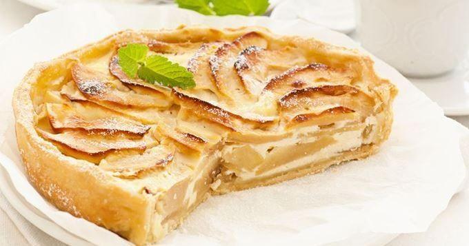 Tarte aux pommes à la crème fraîche | Cuisine AZ