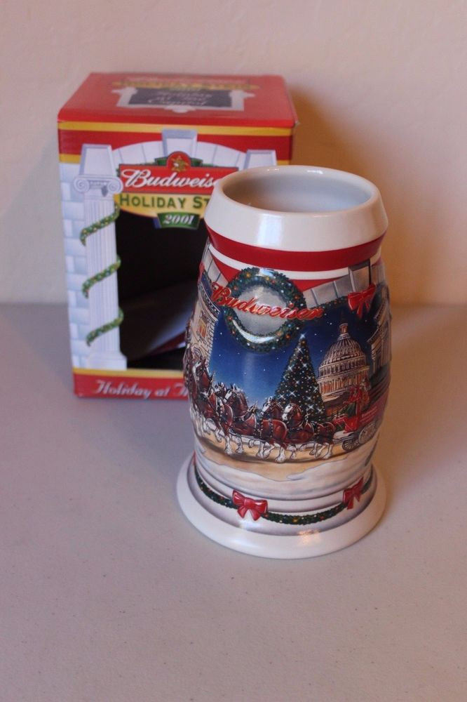 Budweiser Stein Mug 2001 Holiday at the Capitol Holiday Clydesdales Annual