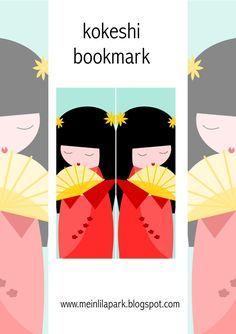 Free printable kokeshi bookmark - ausdruckbares Lesezeichen - freebie | MeinLilaPark – DIY printables and downloads