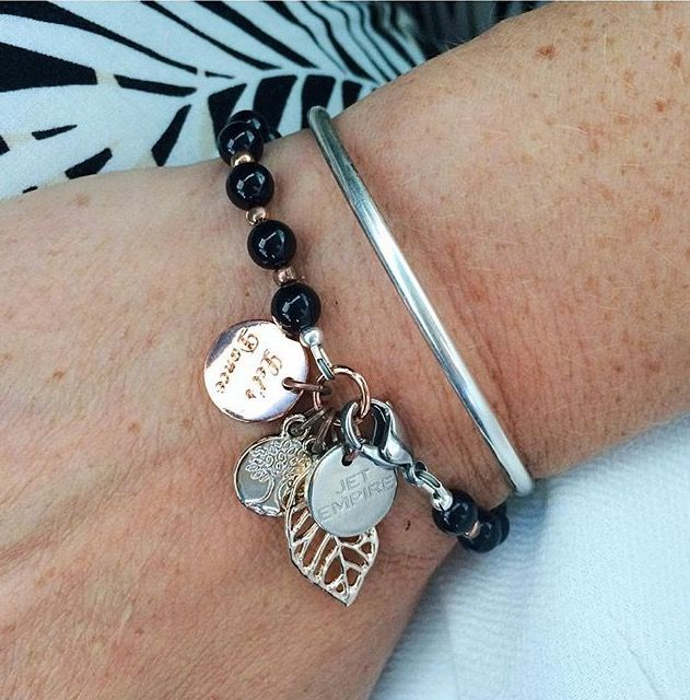 """The Fashionable Mum wearing """"Dancing With Myself"""". http://www.jetempire.com.au/collections/bracelets/products/dancing-with-myself-onyx"""