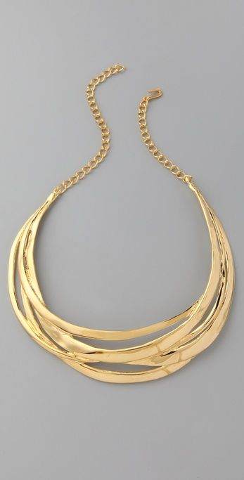 Kenneth Jay Lane Polished Multi Row Necklace