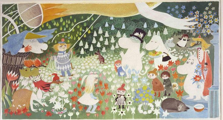 The Moomin Family - Illustration by Tove Jansson