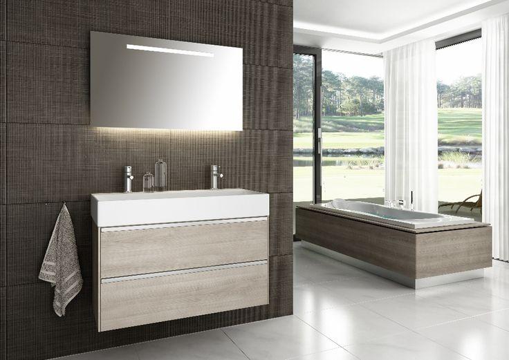 Gewoon mooie algehele stijl badkamer :-)  Wij wel andere kleuren en heben andere indeling dus moeten anders doen.