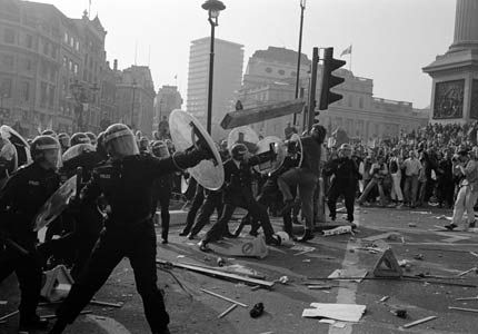 Accounts of the poll tax riot, 1990
