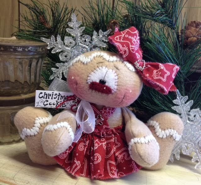 "Primitive HC Holiday Christmas Doll Gingerbread Snowman Snowflake 6"" Super Cute! #IsntThatCute #Christmas"