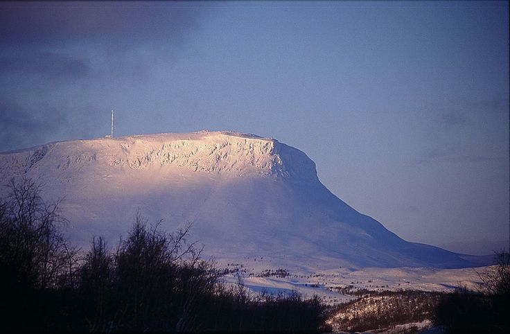 Mythic mountain of Saana in Lapland