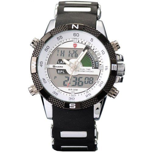 Porbeagle Shark, Sport Watch with modern LCD display