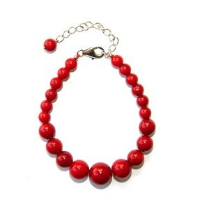 Pearlz Ocean Sterling Silver Red #Coral Journey #Bracelet