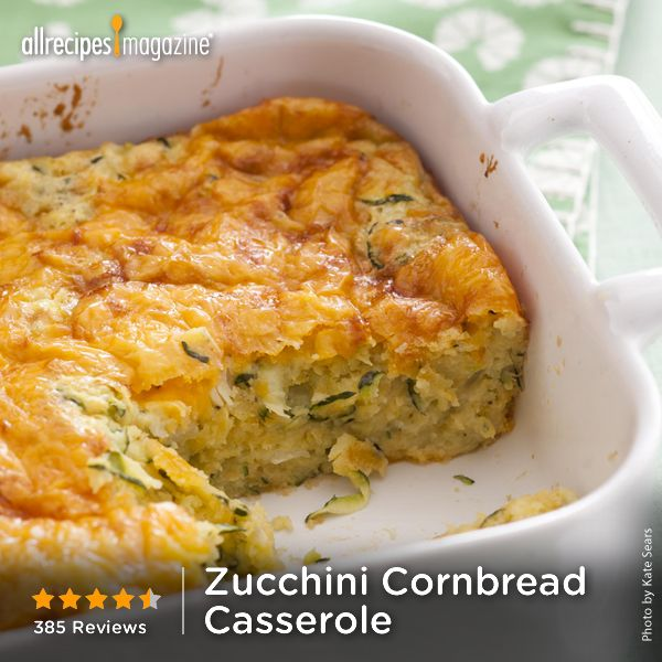 "Zucchini Cornbread Casserole | ""A delicious and easy to prepare side dish casserole loved by everyone in the family.""—Diana S."