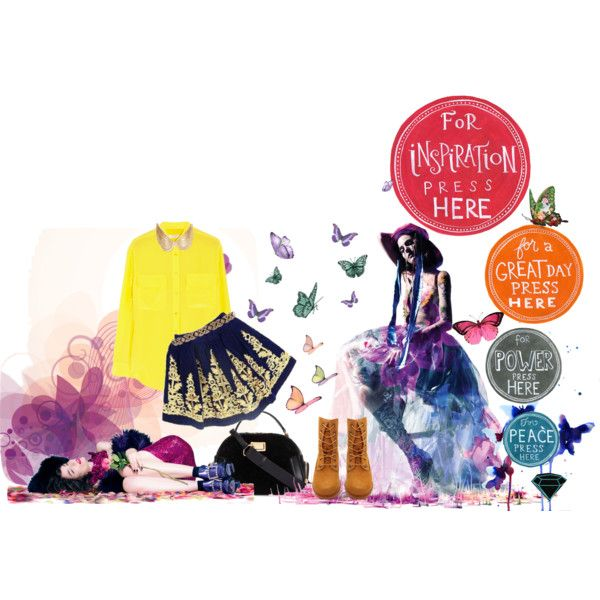 """Ready for Butterfly?"" by aninditaa on Polyvore"