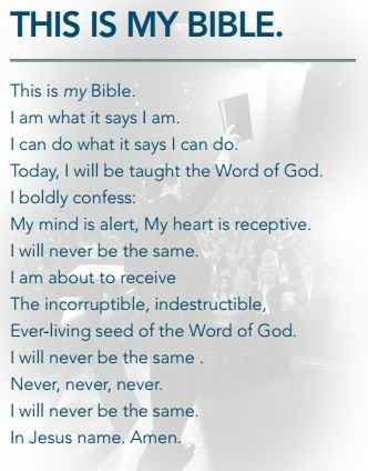 """This is my Bible..."" Joel Osteen, John Osteen"