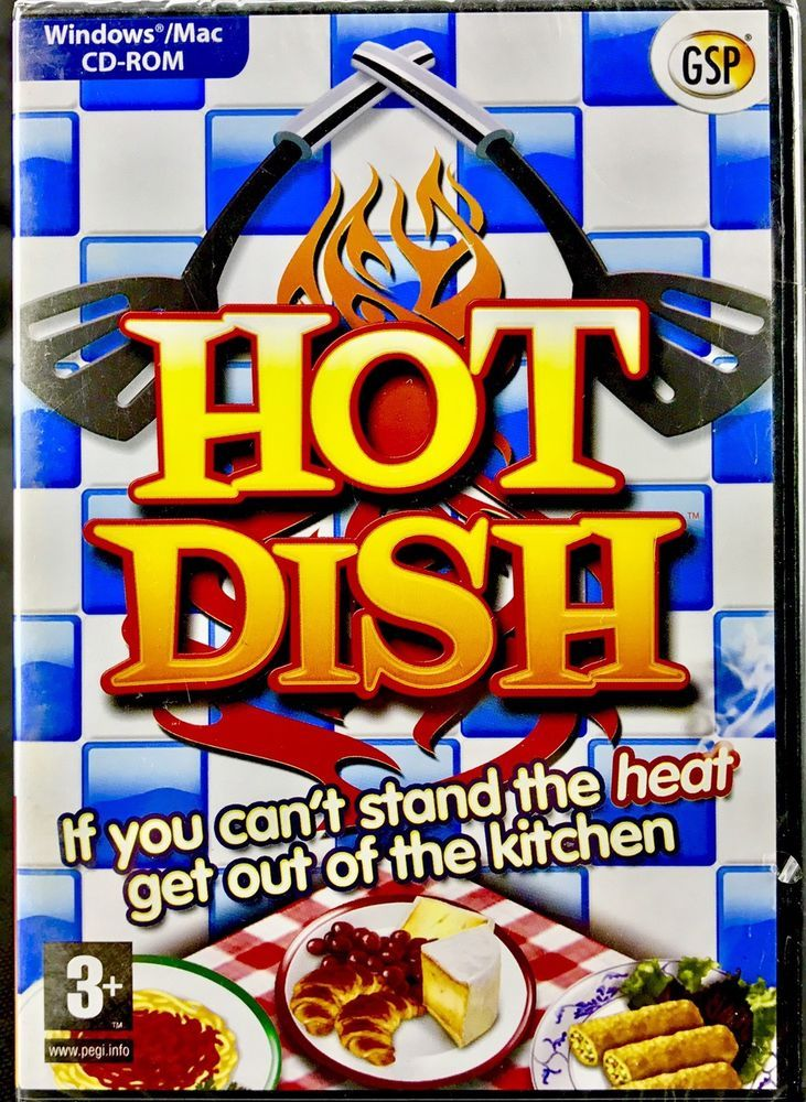 Pc Game Hot Dish New Sealed Windows Mac Cd Rom restaurants cooking recipes chef