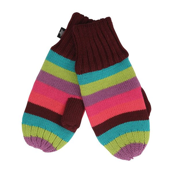Molo Girly Rainbow Snowfall Fleece Lined Knitted Gloves