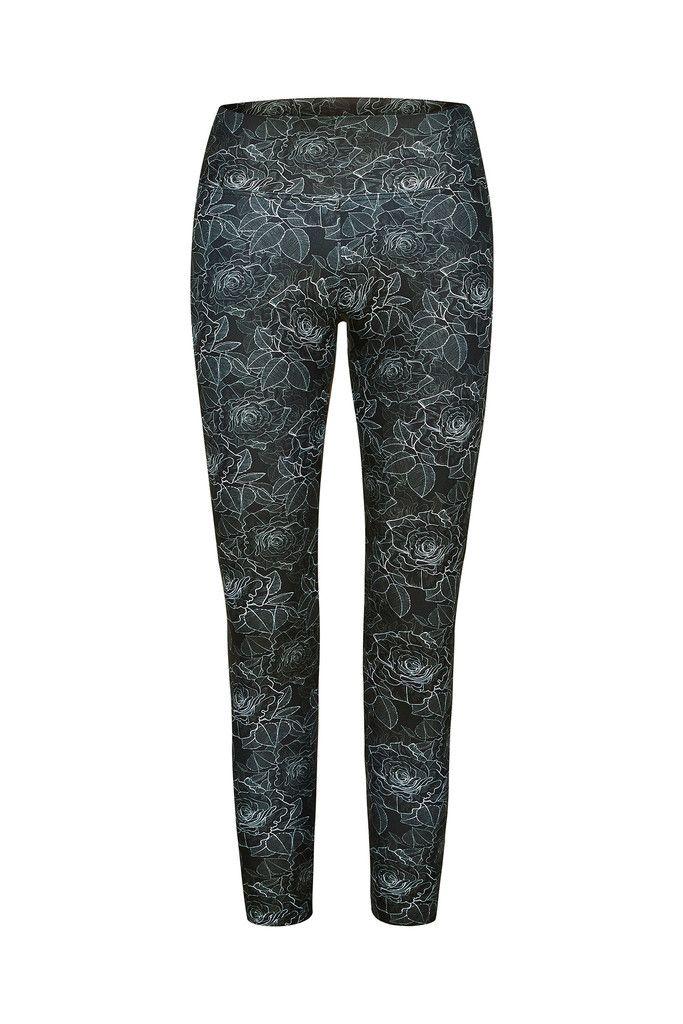 Silver Rose Printed Yoga Legging - 3/4 – Dharma Bums Yoga and Activewear
