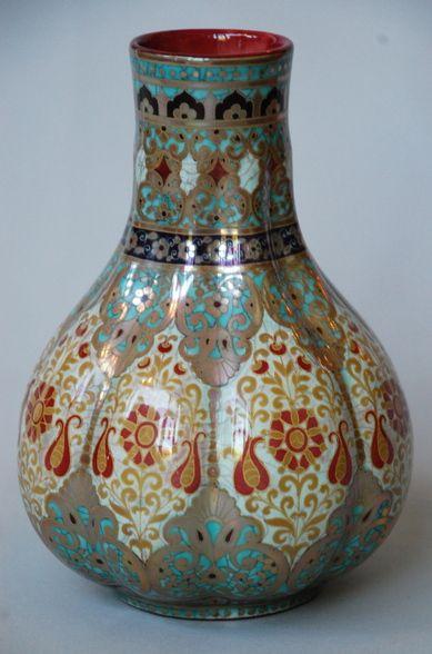 Zsolnay Art Nouveau Vase c1880