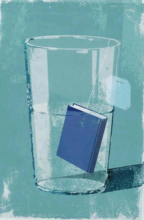 Reading refreshing: tea-book / Lectura refrescante: té-libro (ilustración de Eva Vázquez): Books, Reading, Reading, Teas, Illustration, Art, Infusión De, Photo