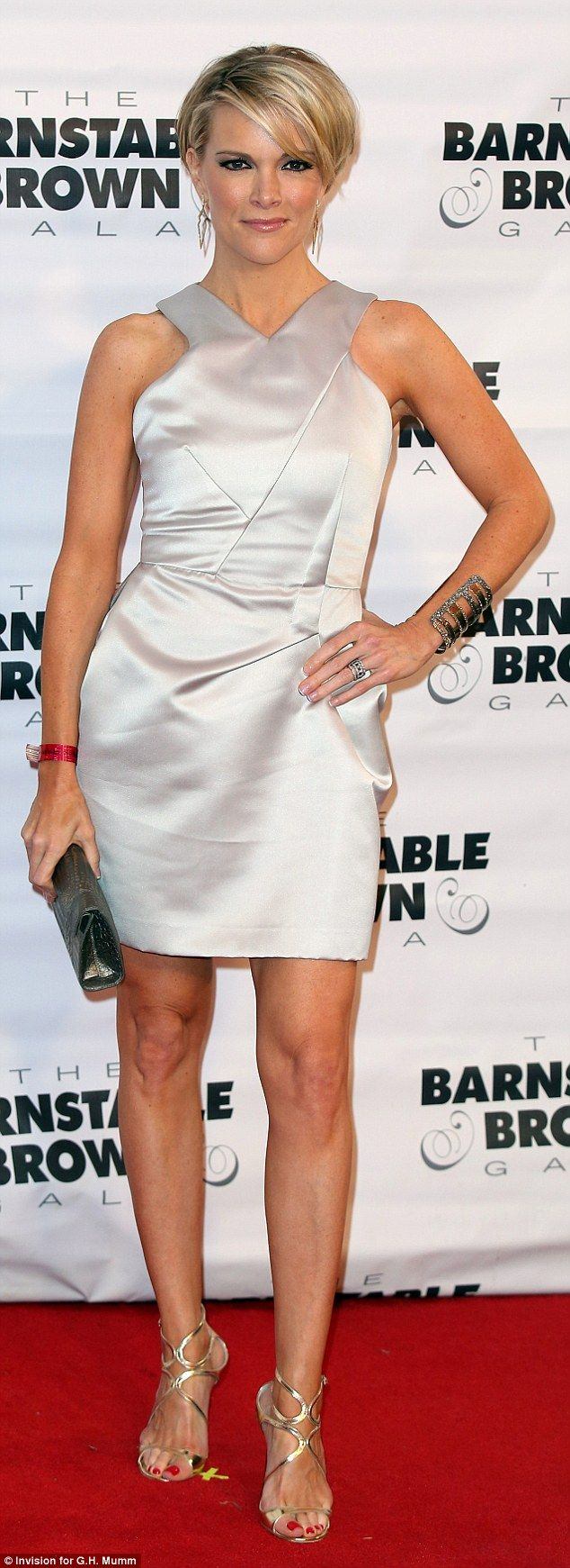 At Friday night's Barnstable Brown party Fox donned a shiny metallic outfit that highlight...