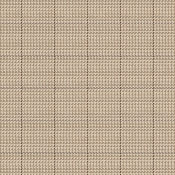 La Crossed - Birch: This fabric is a classic tan and ivory houndstooth with brown accents.