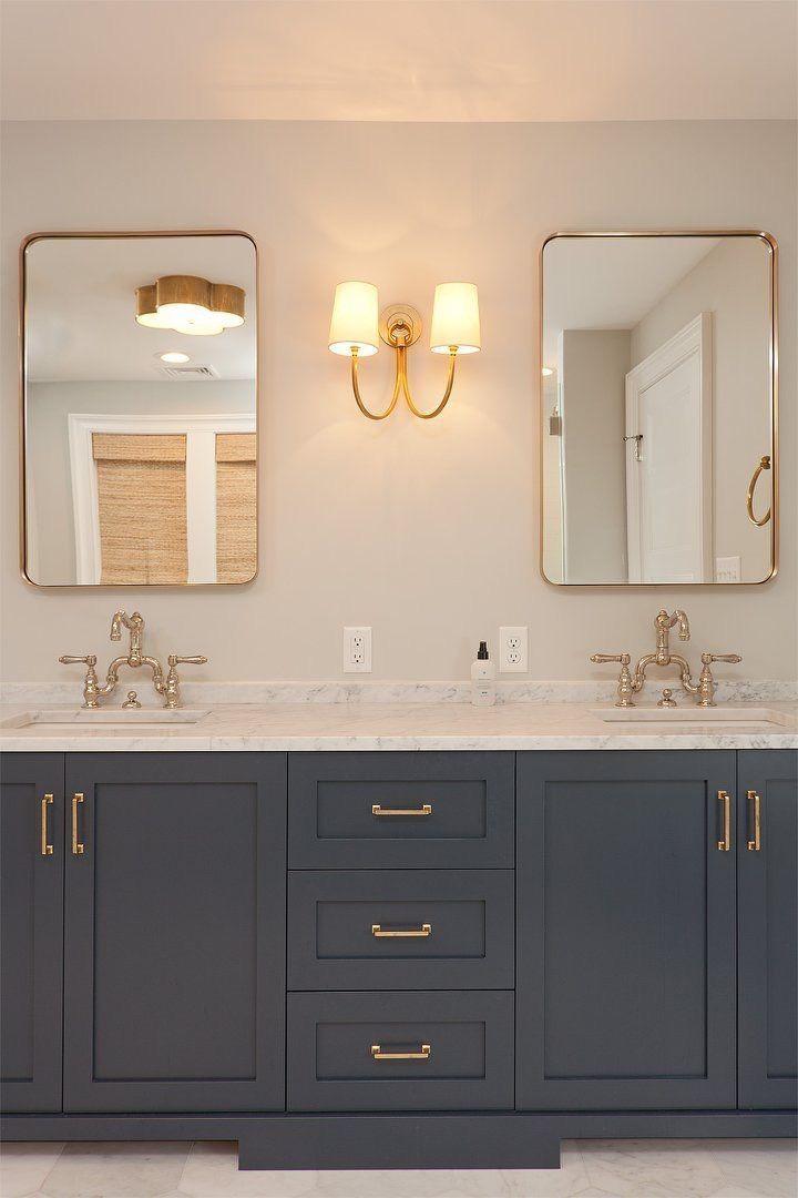 Impress Your Visitors With These 14 Cute Half Bathroom Designs Simple Bathroom Bathroom Vanity Designs Bathroom Design