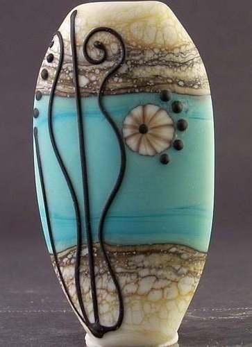 handmade ooak balance lampwork focal bead sra ebay