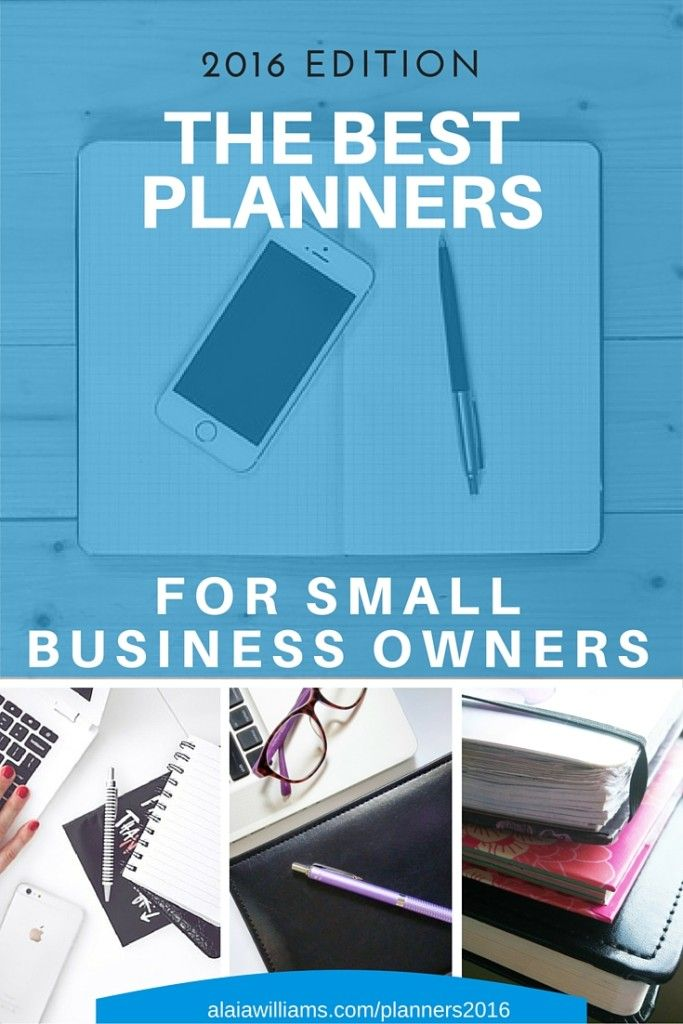 The best day planners and weekly planners for small business owners, solopreneurs, and freelancers. http://alaiawilliams.com/bestplanners