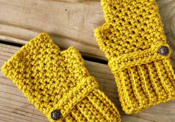 15 Off  Hand Crocheted Fingerless Gloves Mittens  by pixiebell, $34.00