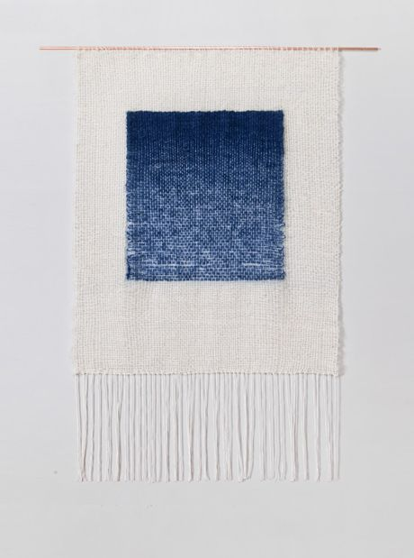 Indigo Gradient weaving by Brook & Lyn